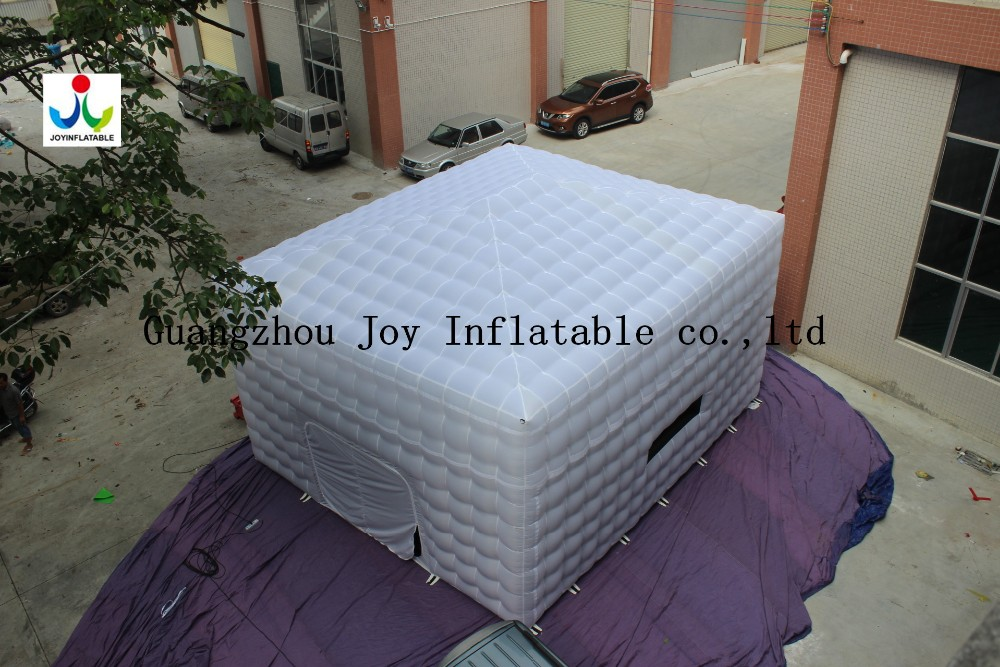 8LX8WX4HM 210D Oxford Giant Inflatable Cube Tent in White and Black Color - 2