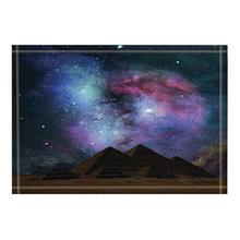 Egyptian Pyramid Decor. Beautiful Starry Sky Bath Rugs Non-S