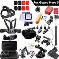 Gopro hero 5 Аксессуары с 45 м Водонепроницаемый Корпус Камеры Мешок Грудь Крепление для Gopro Gopro 5 hero5