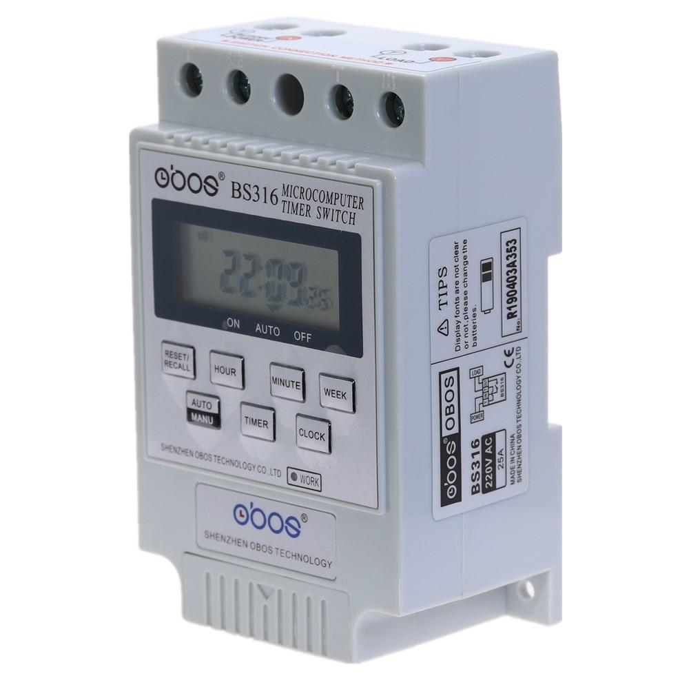 Nuovo commutatore timer digitale a barra DIN KG316T AC 220 V 50 HZ / - Strumenti di misura - Fotografia 2