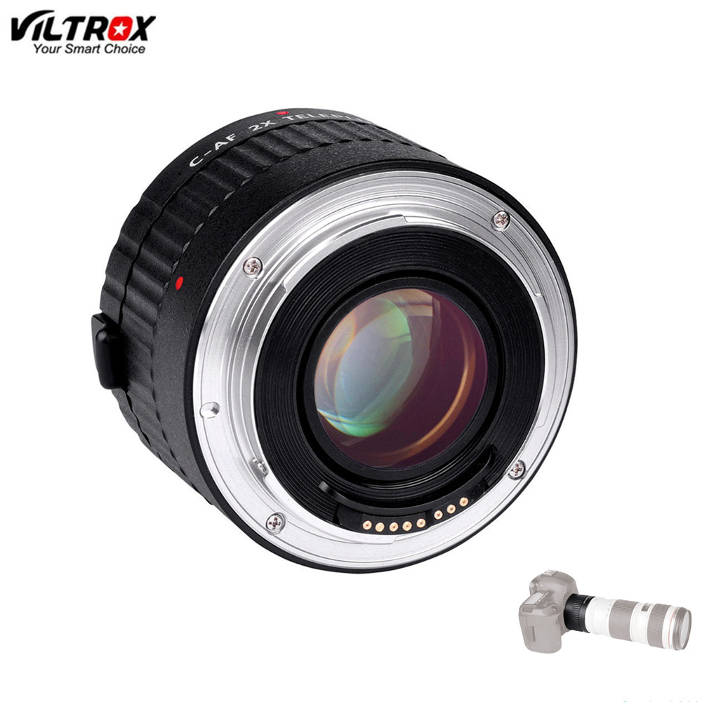 Viltrox C-AF 2X Magnification Teleconverter Extender Auto Focus Mount Lens Adapter for Canon For EOS EF Lens DSLR Camera цена
