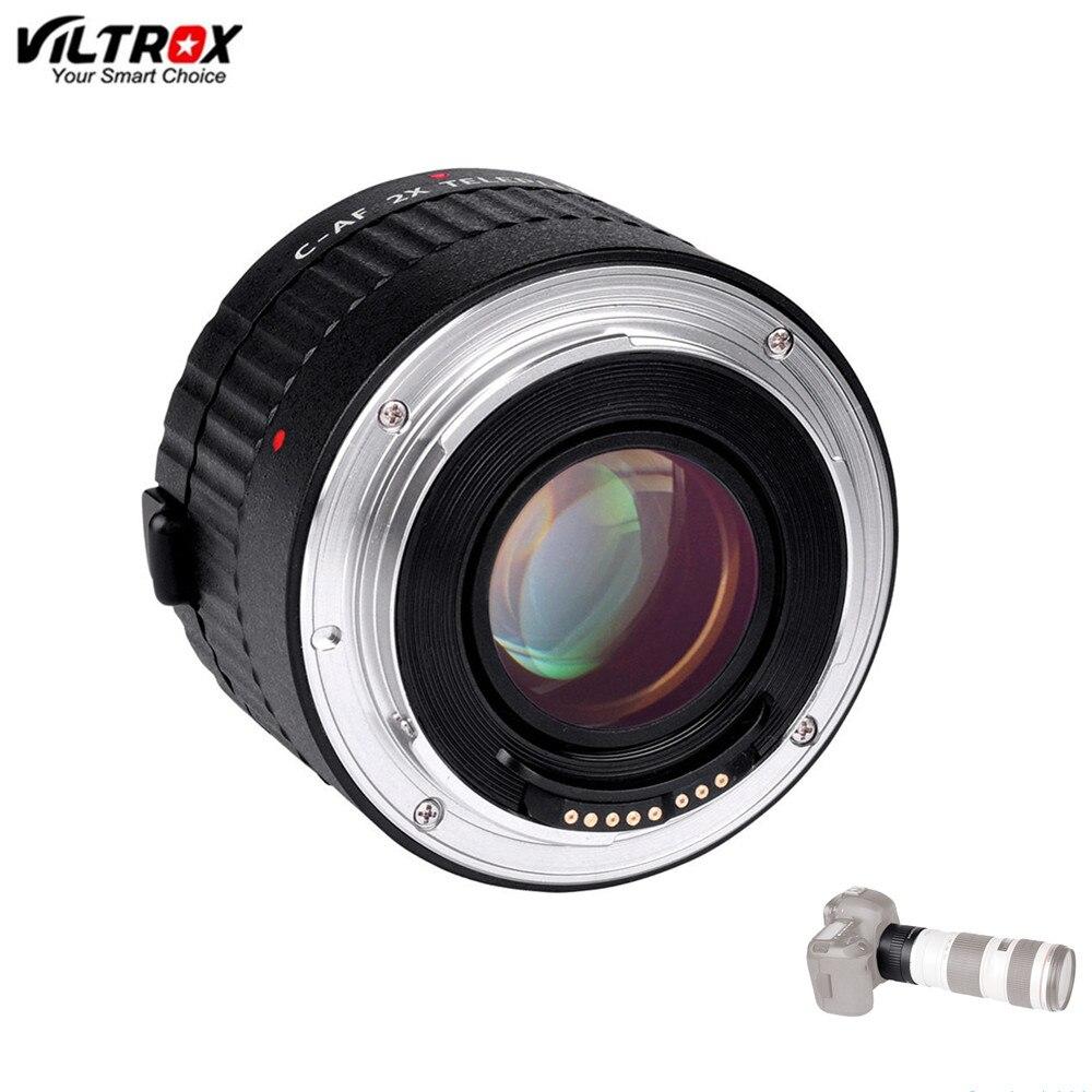 Viltrox C-AF 2X grossissement téléconvertisseur Extender Auto Focus adaptateur d'objectif pour Canon pour objectif EOS EF appareil photo reflex numérique