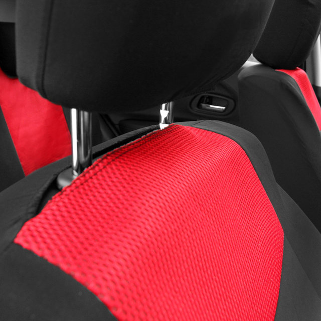 Universal Waterproof Car Seat Covers 10Pcs Front Back Headrest Cover Mesh Protector For Peugeot 307 Toyota VW