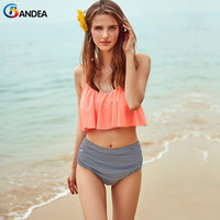 BANDEA Bikini Brand Sexy Women Bikini Set High Waist Swimsuit Bandeau Swimwear Vintage Bathing Suit Bikini
