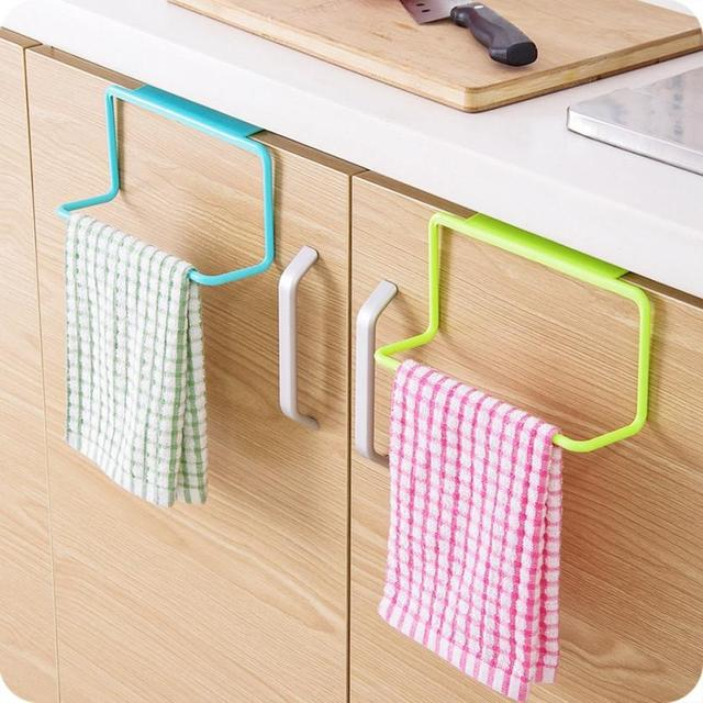 Kitchen Organizer Towel Rack Hanging Holder Bathroom Cabinet