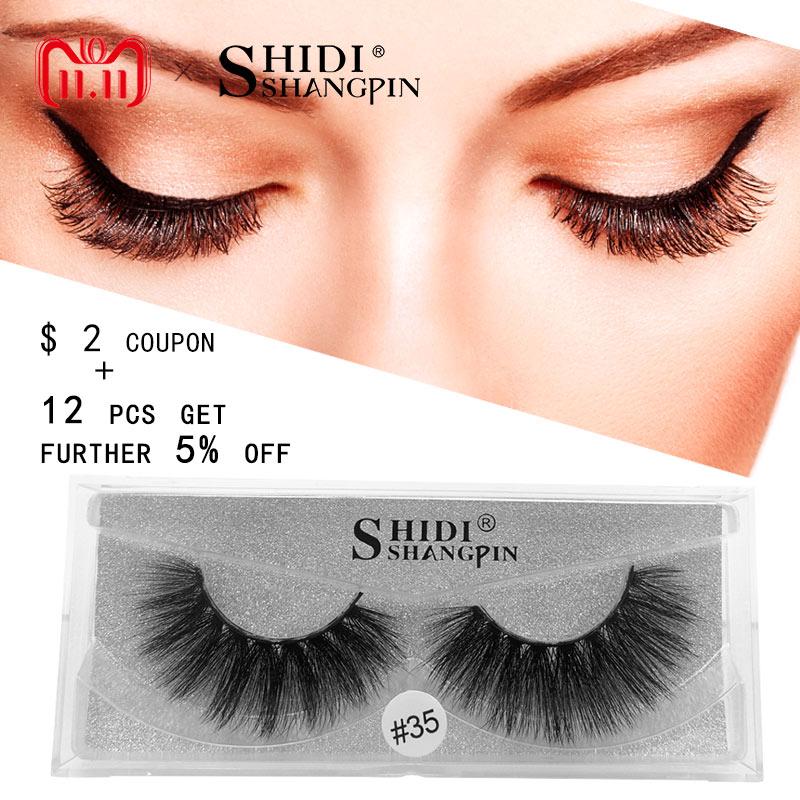 SHIDISHANGPIN 1 pair eyelashes natural long false mink eyelashes 1cm-1.5cm 3d mink lashes 1 box false lashes maquiagem cilios