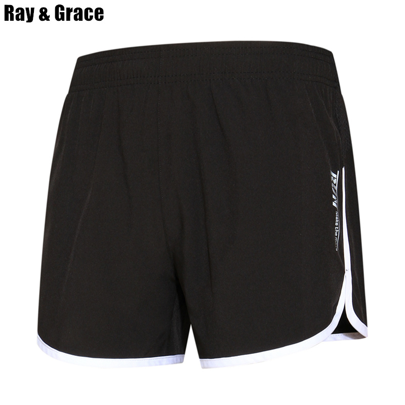 RAY GRACE Summer Men's Running Shorts Boxers Elastic Waist Loose Comfortable Sport Shorts Training Workout Shorts For Men u convex pouch stripe elastic waist boxers brief