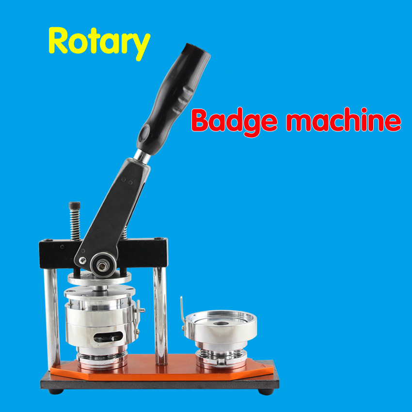 1 PC Badge Button Maker Machine ,can choose 75mm/58mm/56mm/50mm/44mm /37mm/32mm/ 25mm mould +Adjustable Circle Cutter