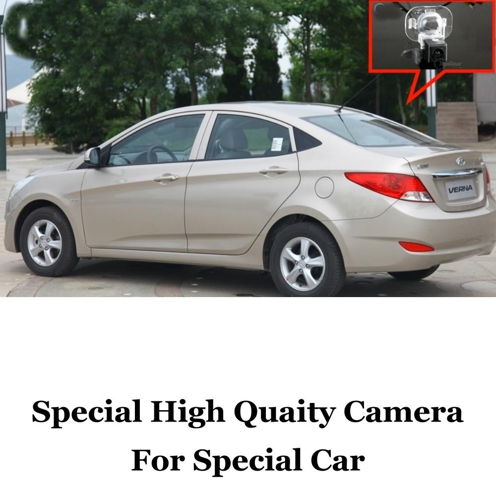 Car Camera For Hyundai Fluidic  Solaris  2011~2014 High Quality Rear View Back Up Camera For Fans Use  RCA Car