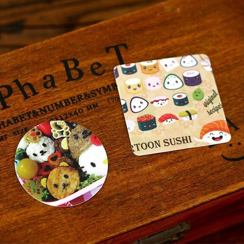 46 Pieces Box Mini Japanese Food Paper Stickers Diy Album Diary