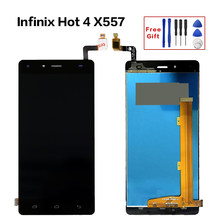 Replacement LCD For infinix Hot 4 X557 Full LCD Display Touch Screen assembly glass digitizer 100% Tested Infinix Hot4 Display(China)