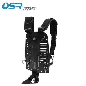 Image 2 - Scuba Diving Carbon Fiber Alu Aluminum Stainless Steel SS316 backplate with adjustable harness BCD back mount sidemount