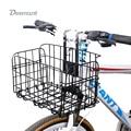 Велосипедная корзина Deemount  корзина для руля велосипеда  велосипедная каретка  железный чехол  велосипедная сумка для багажа  сверхмощный/ба...