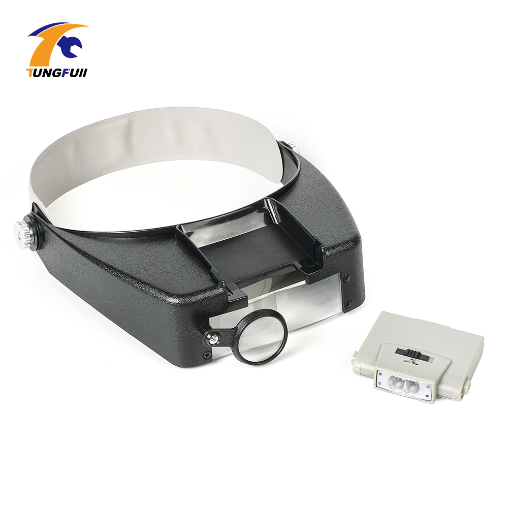 Dutoofree Glasses Loupe Wearing Style Helmet 10X LED Lights glasses magnifier loupe magnifier led Reading Repair Use