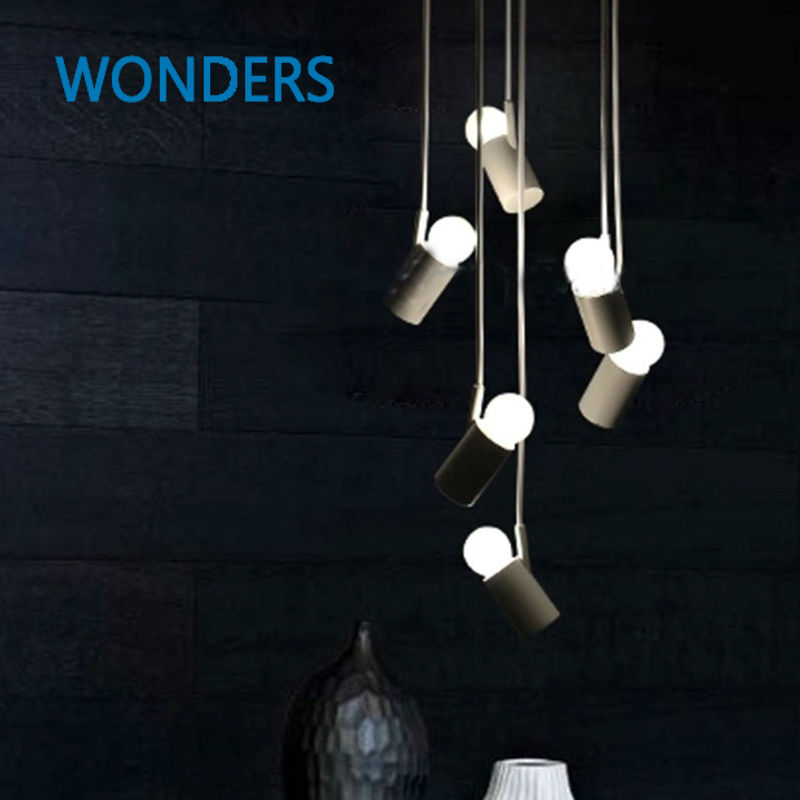 Nordic Simple White Pendant Lamp LED European Pendant Lights E27 Counter Lamp Little Bird Light bar hotel restaurant decor