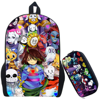148c5544f35 17 Inch Various Awsome Undertale Printing Backpack Mochila Boys Girls School  Bags Children Bookbag Shoulder Backpacks