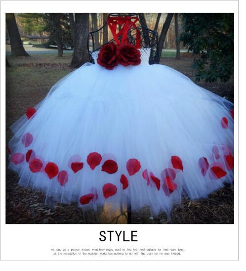 Girls Gallus Formal Dresses 2018 Handmade Gauze Flower Ball Gown Kids Party Dress Children's Long Dress Birthday Dancewear White girls christmas formal dresses 2018 flower girls dresses kids long party gauze birthday ball gown children s wedding dress red