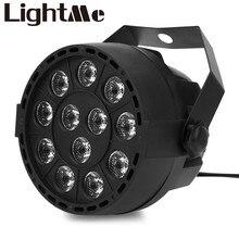 Nuevo Profesional de Luces DEL Escenario LED 18 RGB LED PAR DMX Etapa Efecto de iluminación DMX512 Master-Slave Led Plana para el Partido Del Disco de DJ KTV