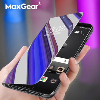 Mirror Clear View Smart Case For Samsung Galaxy J3 J5 J7 Pro Prime On5 On7 2016  2017 Flip Cover For Samsung J3 J4 J6 J7 J8 2018 grille