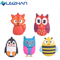 The usb flash drive Fox&bee&Owl&Penguin pen drive external storage usb pendrive 4GB 8g 16g 32g 64g usb flash drive Flash Card