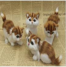 WYZHY New Year Creative Gifts Home Decoration Photography Props Fur Animals Simulation Cat Friends Children Gifts 11cmX9cm wyzhy simulation cat home decoration creative desktop decorations photo photography props to send friends gifts 14cm x11cm