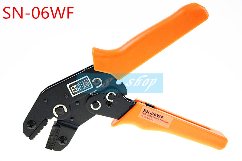 Free Shipping SN-06WF 0.25-6mm2 Crimping Pliers For End-sleeve Cable Clamp Locking Crimper Press Tool