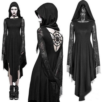 Halloween Black Dress Size S to 5XL