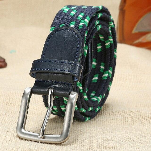 1dc0efbd0a3f Nouveau Élastique Sangle hommes ceinture de mode multi-couleurs designer  ceintures tressées en cuir véritable