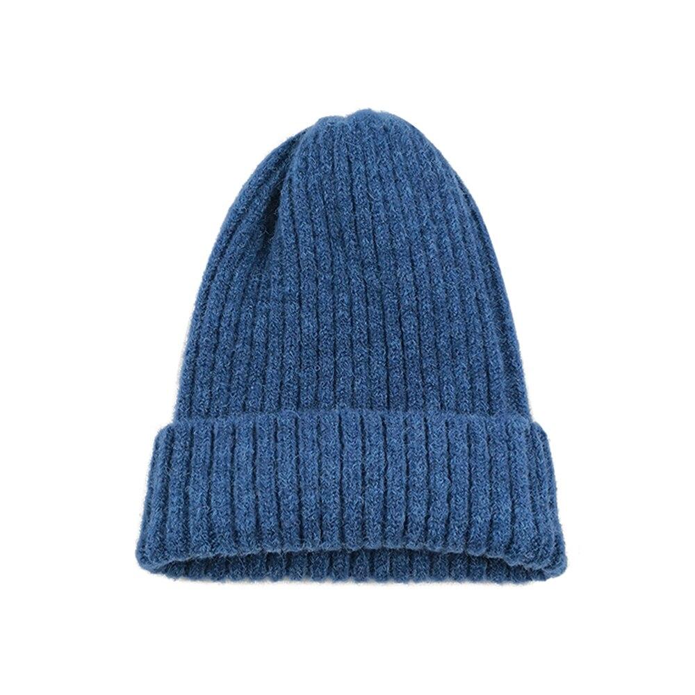 Вязаная шапка Повседневная Удобная зимняя унисекс игровая вязаная шапка - Цвет: blue
