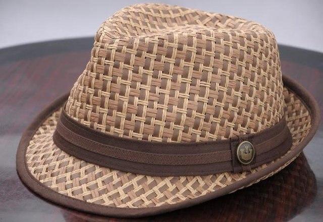 Value of goorin hat straw hat beach hat sunbonnet man woman coffee color