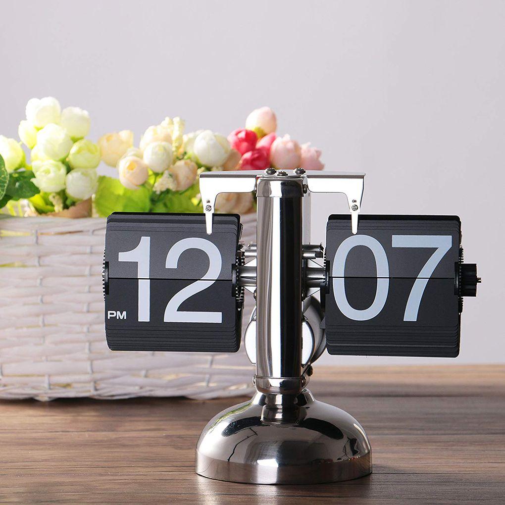 Rétro numérique Flip Down horloge interne engrenage actionné montre Page Flip montre montre