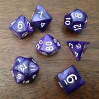 7Pcs Multi-Sided Dice With Pearlized Effect D4,6,8,10,10%,12,20 dice sets ,RPG Dungeons and Dragons Game Dice
