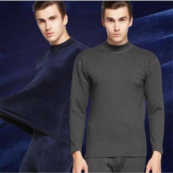 Cotton Long Johns | 2017 HOT SALE  Thermal Underwear Mens Long Johns Men  Winter Shirt+pants  Set Warm Thick   XL-XXXL