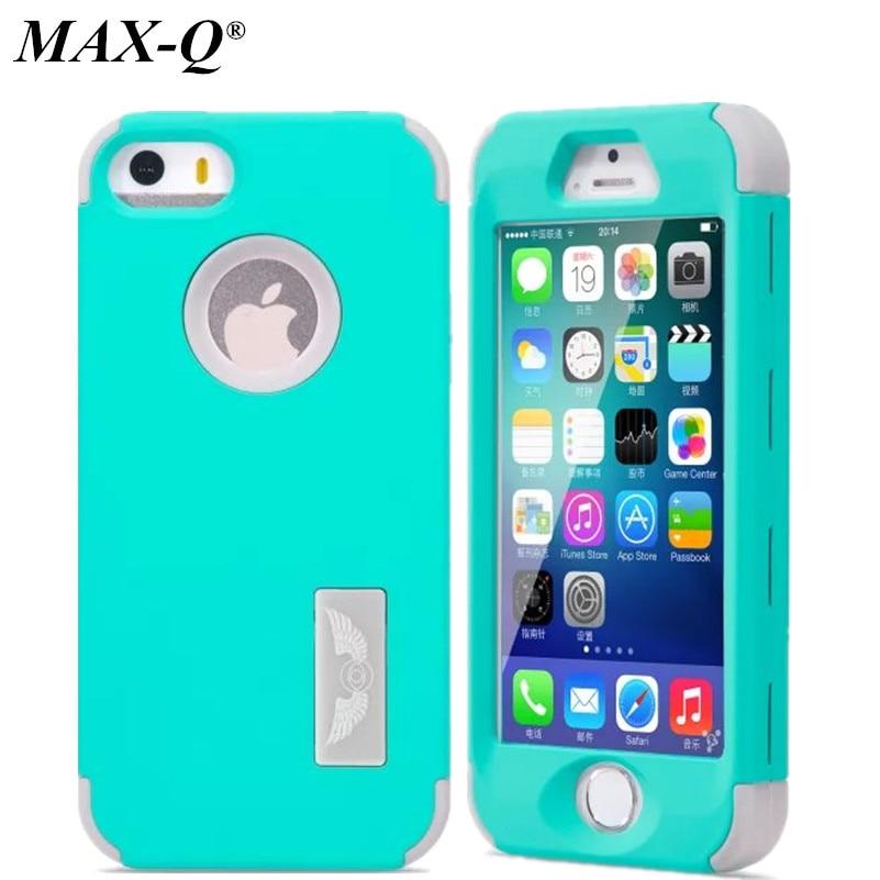 A la Venta! max-q fresco de lujo case para apple iphone5 accesorios del teléfono