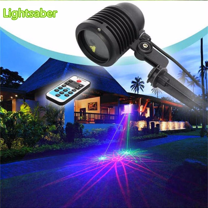 цена на RGB 20 Big Patterns Laser Projector Outdoor Waterproof IP65 Laser Light Garden Christmas Landscape Xmas Tree Show Lighting