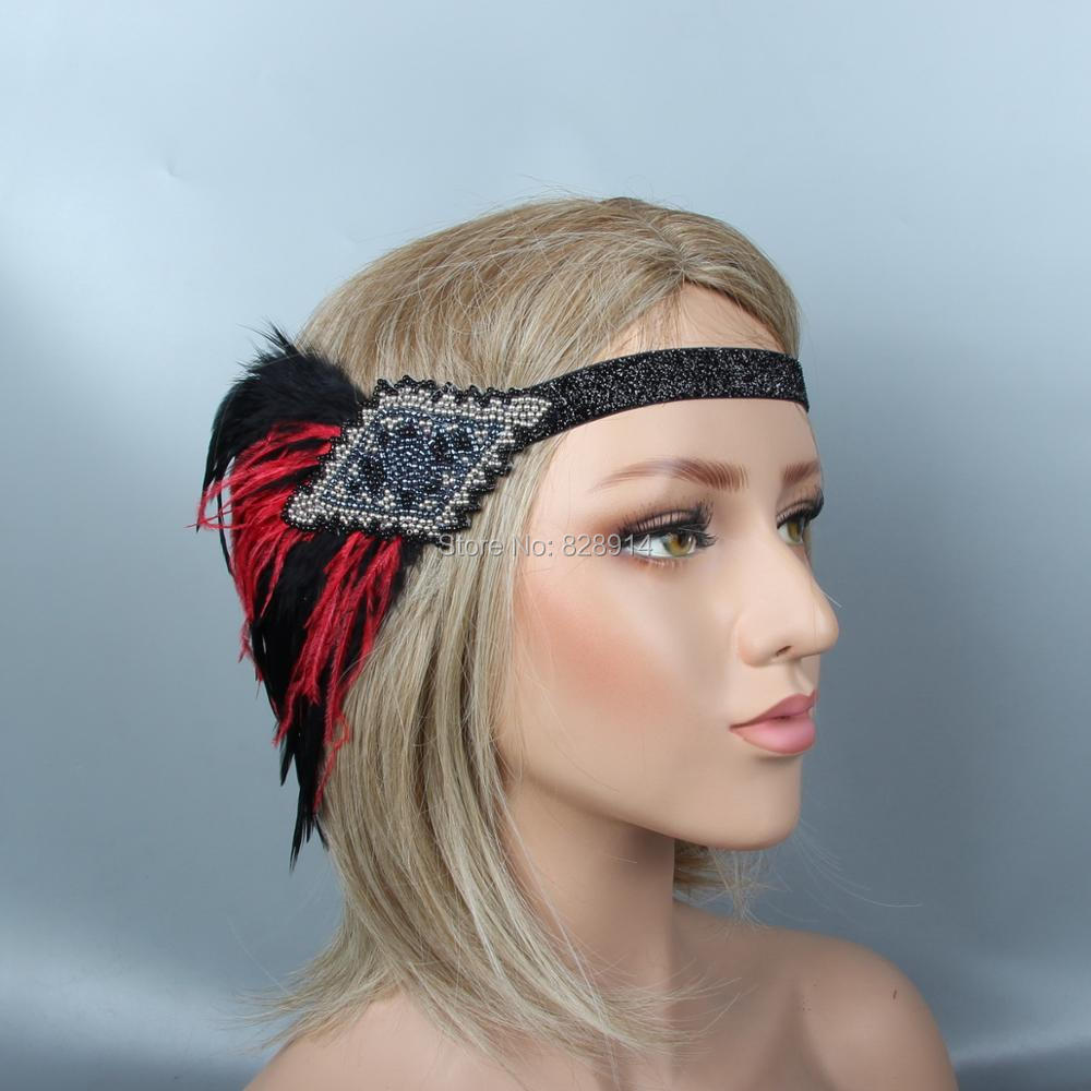 Hair & Head Jewelry 1920s Flapper Great Gatsby Crystal Elastic Headband Silver Tone Party Prom Fashion Jewelry