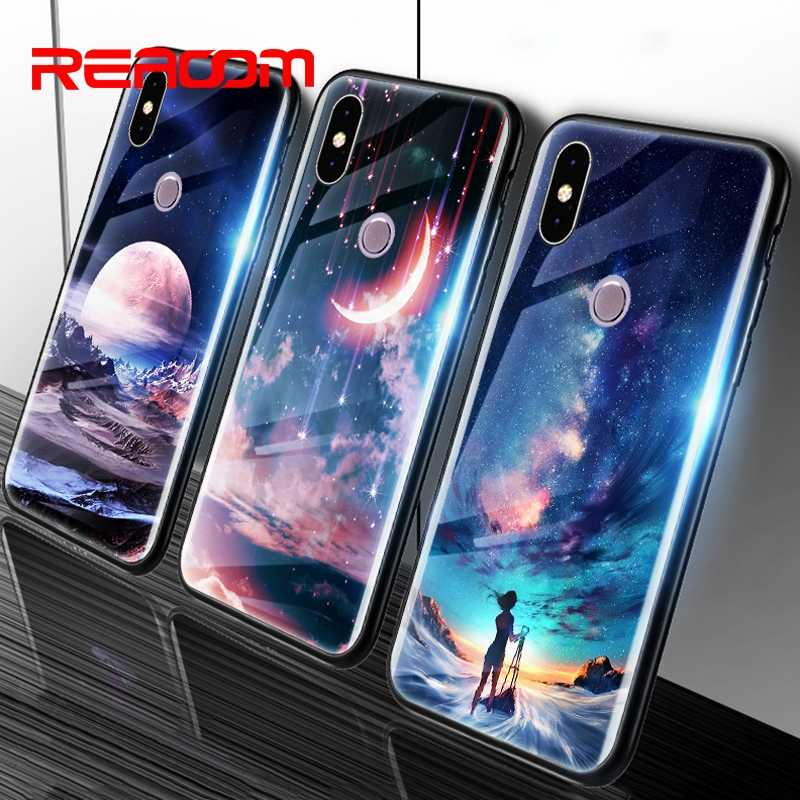 Tempered Glass Case for Xiaomi Redmi Note 5 Phone Case for Xiaomi Mi A1 A2 Lite Redmi 6A 5 plus Note 6 pro 4X Patterned TPU Case