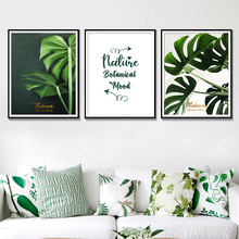 Nature Botanical Mood Wall Art Posters And Prints Watercolor Green Home Decoration Minimalist Picture
