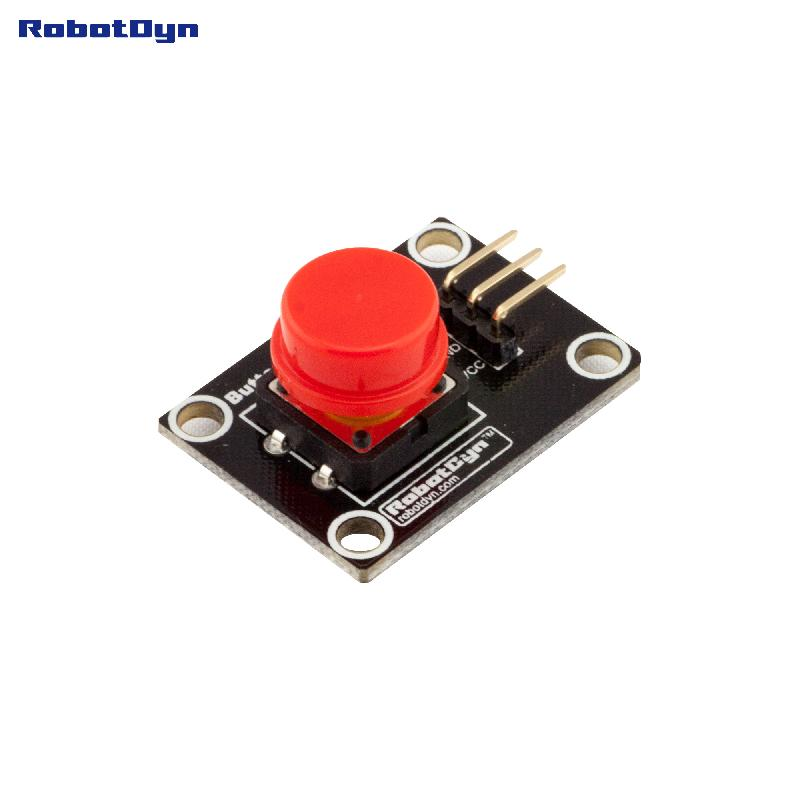 Button Key Switch Module (RED). With LED Light Of Action.