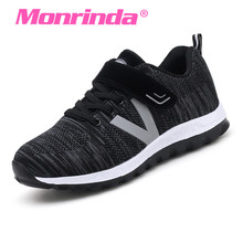 Monrinda Brand Running Shoes Women Hook Loop Sport Comfortable Ladies Sneakers Breathable Black Elderly Walking Zapatillas