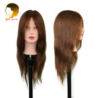 Professional Hair Styling Head Dummy For Hairdressers Mannequin Head With 100 Human Hair Practice Head Barber