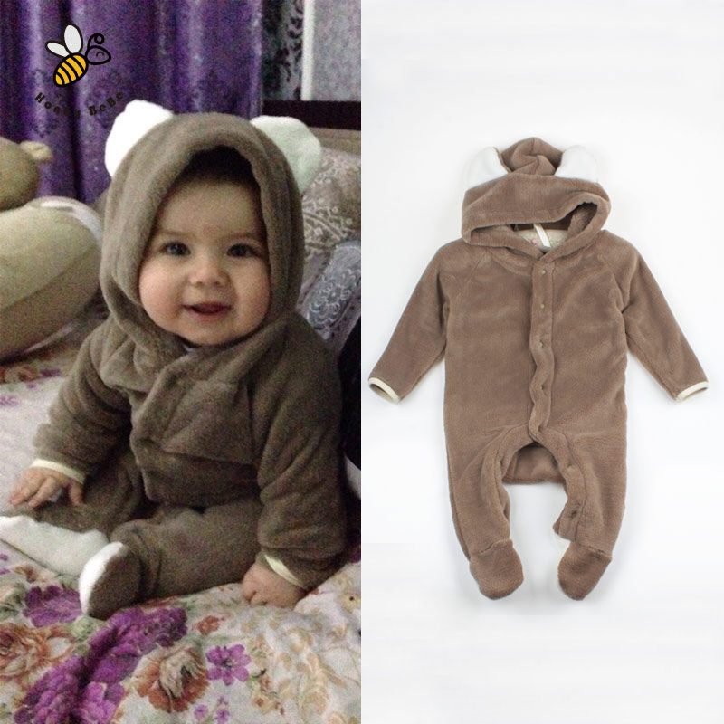 cartoon fleece newborn baby clothes animal overall menina. Black Bedroom Furniture Sets. Home Design Ideas