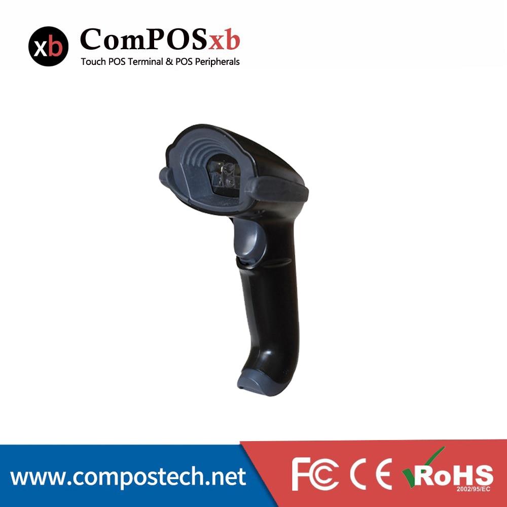 Free Shipping Portable Handheld 2D Laser Barcode Scanner & QR Code Scanner Reader Handheld
