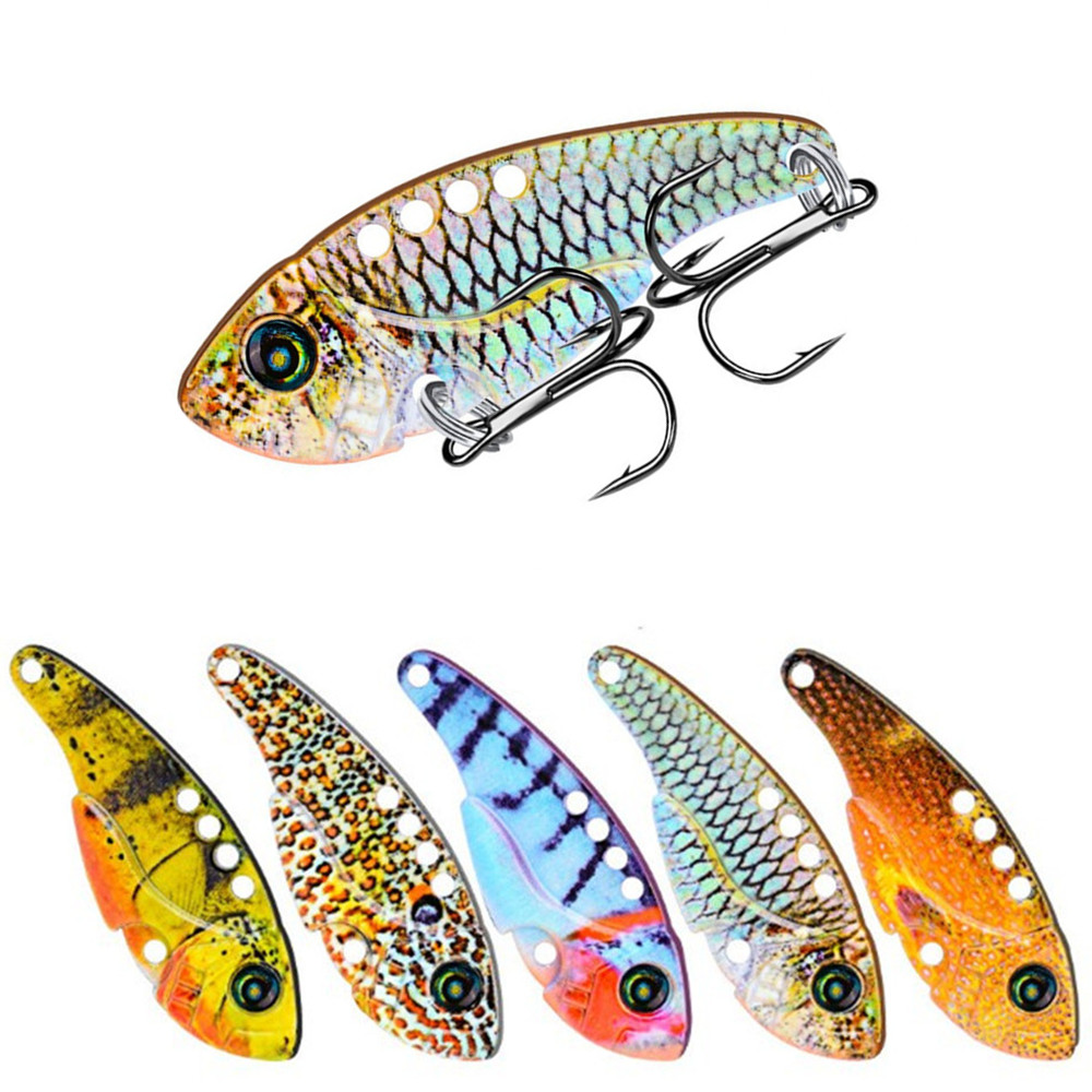 1PCS  Metal VIB Lures 54mm/11g Vivid Vibrations Spoon Lure Hard Artificial Cicada Bait Spinner Wobblers For All Top Water