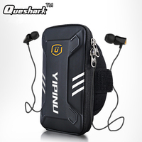 Universal Reflective Running Arm Bag Sport Wristband Mobile Phone Bag Case Cover Waterproof Unisex Cycling Hiking