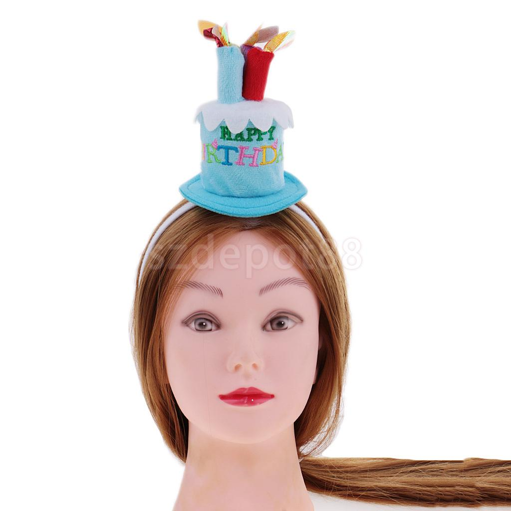 b175ca0b1dc Funny Happy Birthday Cake Candles Headband Women Lady Girls Party Hair Band  Hat Fancy Dress Headwear
