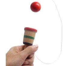 Дети Анти Стресс безопасный простой Kendama деревянный Bilboquet чашка и мяч дошкольного образования игрушки для детей на открытом воздухе забавные игры