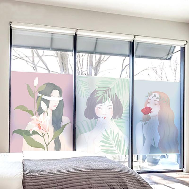 Household, Girl, Stickers, Film, Glass, Art