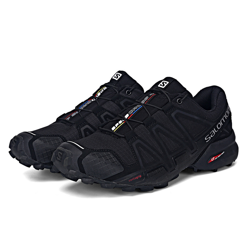 Salomon Chaussures de Course Hommes Baskets Noir Vitesse Croix 4 CS Sneakers Dentelle Chaussures Non-slip Jogging Léger Chaussures