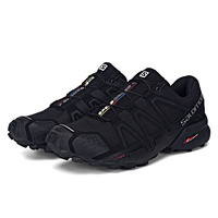 Salomon Running Shoes Men Black Sneaker Speed Cross 4 CS Sneakers Lace Shoes Non slip Jogging Lightweight Footwear